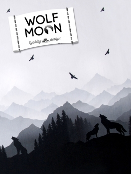 "Sommersweat""Wolf Moon by Lyckling Désigns""grau"